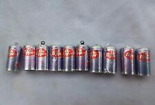"Barbie Size Dr Pepper Can Soda Lot Vintage Hong Kong 1"" mini"