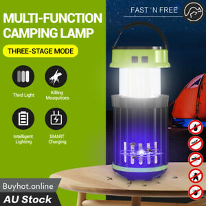 Solar Electric LED Mosquito Zapper Killer Lamp Bug Trap Outdoor Camping Lights