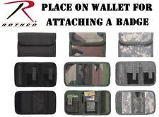 Tactical Tri-Fold Badge Wallet ID Holder Commando Rothco 11629 11630 11640