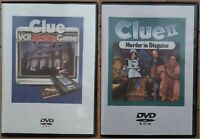 Clue VCR Mystery Game & Clue II 2 Murder in Disguise - DVDs of the VHS Tapes