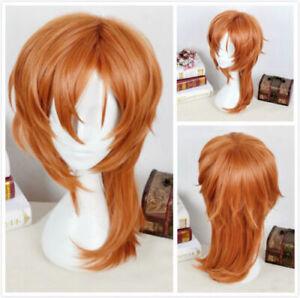 Bungo Stray Dogs Chuya Nakahara Chuuya Cosplay Brown Orange Heat Resistent Wig