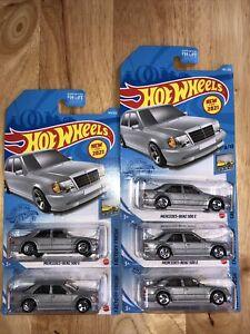 2021 Hot Wheels Mercedes-Benz 500E Silver #145 145/250 Lot Of 5 VHTF.