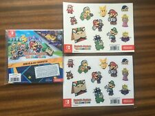 PAPER MARIO THE ORIGAMI KING ORIGAMI SHEETS STICKERS MAGNETS NEW SEALED BONUS