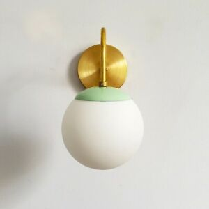 Wall Sconce Modern Brass Industrial Globe Fixture Shade Mid Century Vanity Light