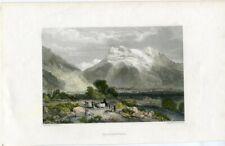 Suiza. Grindenwalld grabado por E. Finden de un dibujo de J.S. Cooper