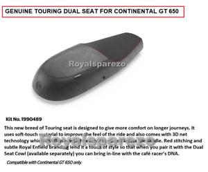NEW Royal Enfield PREMIUM TOURING DUAL SEAT BLACK For INTERCEPTOR 650 & GT 650