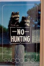 No Hunting, Raccoons, Rare Postcard, Unposted,