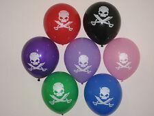 "12 x  Pirate Sword Balloons Coloured 12"" (30cm) Latex Balloons"