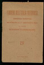 I DOVERI DELL'ITALIA VITTORIOSA 1919 DOGLIANI CUNEO I GUERRA MONDIALE BANDIERE