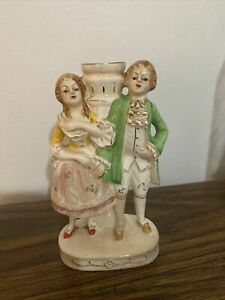 Antique Man And Lady Figurine