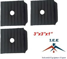 3 Pack Anti Vibration Pads For Air Compressor Or Equipment Solid Rubber 3x3x1