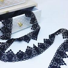 Ruban dentelle, guipure noir  35 mm vendu au mètre linéaire