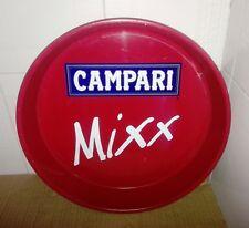Vassoio Porta Bibite Pubblicitario in Latta / Metallo Campari Mixx da Collezione