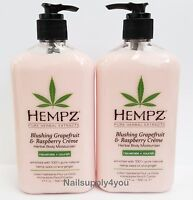 Pack 2-Hempz Lotion Herbal moisturizer-Blushing Grapefruit & Raspberry-17 fl. oz