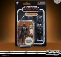 "KENNER STAR WARS VINTAGE COLLECTION 3.75"" DIN DJARIN THE MANDALORIAN & THE CHILD"