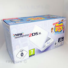 New Nintendo 2DS XL Lavender and White Console + Tomodachi Game Bundle