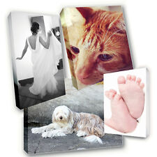 """Personalised 8"""" x 8"""" Square Canvas Print - Your Photo Image Printed & Box Framed"""