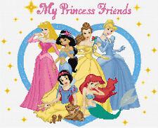 My Princess Friends Counted  Cross Stitch Kit Disney Films Free P&P