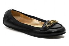 NEW COACH Denise Black Leather/Interlocking C Ballet Flat Loafer Size 6.5 B Shoe