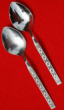 """Distinction Stainless by Oneida~Lisbon """"Black Accent""""~2 Place / Oval Soup Spoons"""