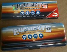 ELEMENTS 1.25 THIN RICE Cigarette Rolling Papers AND METAL STORAGE TIN CONTAINER