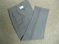 Stance Mens Gray Pinstripe Pleated Pants 30 32 33 34 36 38 40 X  32  34 NEW