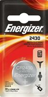 Battery Energizer CR 1632, CR 2430, CR 2450, CR 2032, CR 2025, CR 2016 lithium