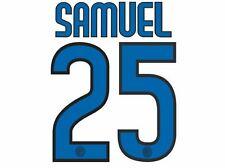 Samuel # 25 Inter Milan 2009-2010 CALCIO AWAY NAMESET per Camicia