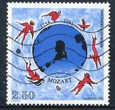 STAMP / TIMBRE FRANCE OBLITERE N° 2695  MORT DE MOZART