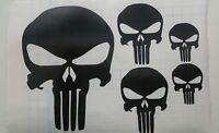 Set kit Teschio The Punisher vinile di PVC adesivo stickers spaziato 6 pezzi