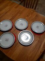 """Noritake China - Lilybell 5556 - 5 plates 10 1/2"""""""