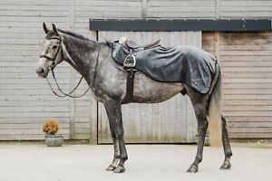 New Dark Horse Super Soft Teddy Fleece Exercise Sheet Winter Riding Horse Grey
