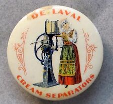 very early DE LAVAL CREAM SEPARATORS dairy advertising celluloid pocket mirror *