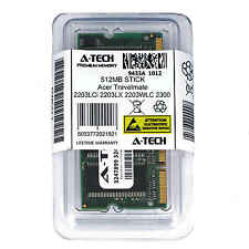 512MB SODIMM Acer Travelmate 2203LCi 2203LX 2203WLC 2300 2301 Ram Memory