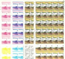 1926 SR Lord Nelson 4-6-0 Train Progressive Proof 50-Stamp Sheets x 8 (Imperf)