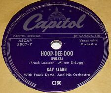 Capitol C280 Kay Starr Hoop Dee Doo / A Women Likes To Be Told 78 RPM E- E-