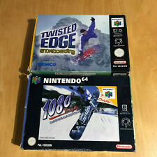 Nintendo 64 N64 Boxed Games - 1080 Snowboarding & Twisted Edge Snowboarding