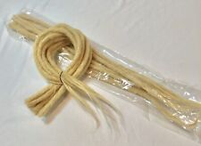 """100% Human Hair Light Blonde Handmade Dread Lock Extension 20""""8mm Width Pack 10"""