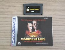 Sum of All Fears - PAL - Nintendo GameBoy Advance Game & Manual