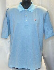 Peter Millar Men's Sky Blue/Red Dot 100% Cotton Golf Polo Shirt SZ XL