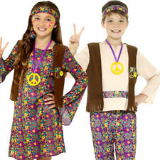 Hippie Kids Fancy Dress 1970s 1960s Funky Groovy Hippy Peace Childrens Costumes