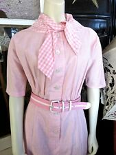 RUDI GERNREICH For Walter Bass Iconic Designer 1950s Vintage Pink Gingham Dress