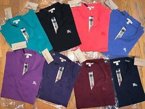 Burberry Brit men's short sleeve nova check placket polo shirt size xs