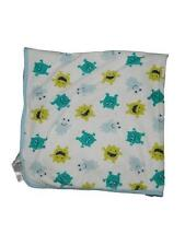 Just One You Carters Blue Green Monster Alien Print Baby Blanket