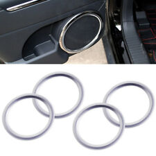 Chrome Plated Stereo Speaker Collar Cover Trim Bezel For Jeep Patriot Compass