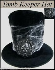 Crypt TOMB KEEPER Black TOP HAT Horror Horror Spooky Fancy Dress Costume Party