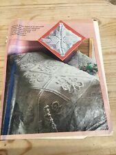 Lovely Cotton Crochet Bedspread Pattern, Magazine Pull Out