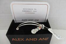 NEW in BOX Alex and Ani Sunglasses Snowman Shiny Silver Charm Bangle Bracelet