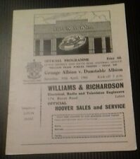 Grange Albion v Dunstable Albion played at Luton Town Programme 30/04/66