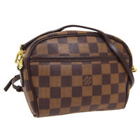 LOUIS VUITTON POCHETTE IPANEMA SHOULDER BUM BAG VI0088 DAMIER N51296 AUTH 36259